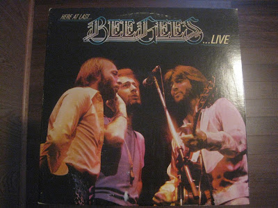 Here at last beegees live, record, album cover, melting records
