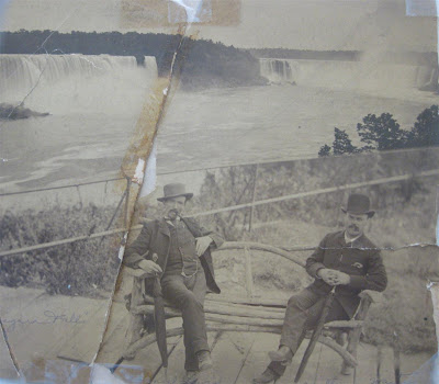 old niagra falls photo, grandfather, 100 year old photo, black and white