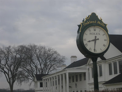 oakland hills golf course, brighton michigan, club house, rolex clock