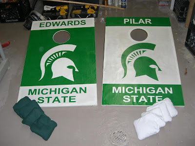 college cornhole game, bean bag toss, MSU, michigan state