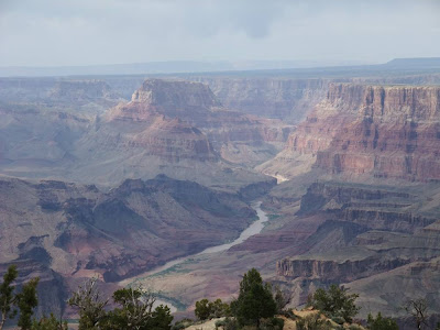 grand canyon, river, colorado, arizona, ridge