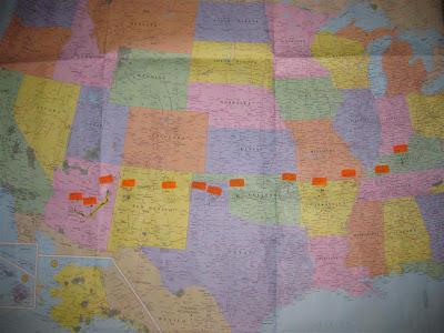 2600 miles on a honda motorcycle, across us