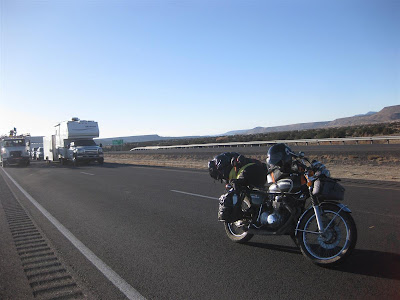 motorcycle trip, stopped on the highway, traffic jam