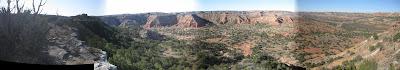 panorama, palo duro canyon, texas, colored rocks
