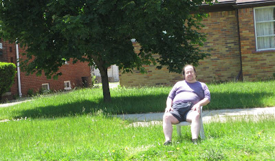 lonely guy at the parade, redford memorial day parade