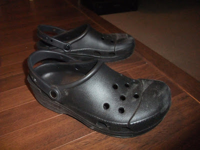 crocs, RX, comfortable shoes, review, opinion, how to shrink