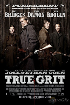 True Grit, movie poster, matt damon, jeff bridges, josh brolin, terrible movie, boring