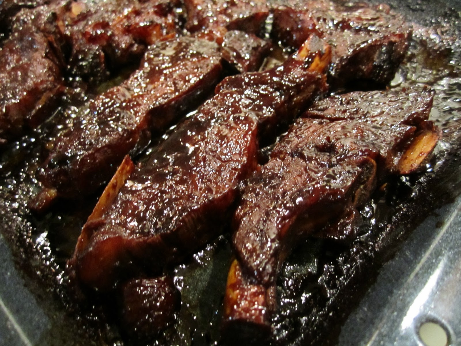 glaze barbecue braised country spareribs with beer and mustard glaze ...