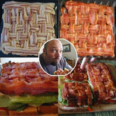 woven bacon placemat