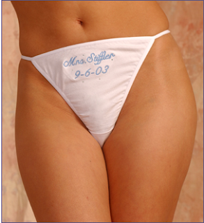 mrs. stiffler wedding thong