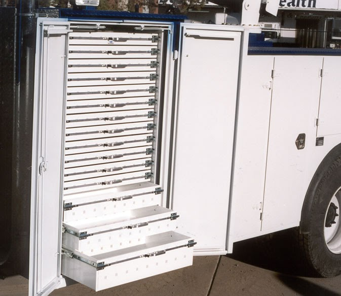 Service Body Tool Cabinet : Commercial truck success sweet drawer unit from a g body