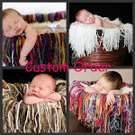Oodles Of Noodles Photo Prop Blanket With Fringe