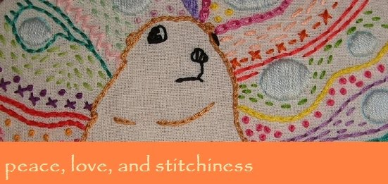peace, love, and stitchiness