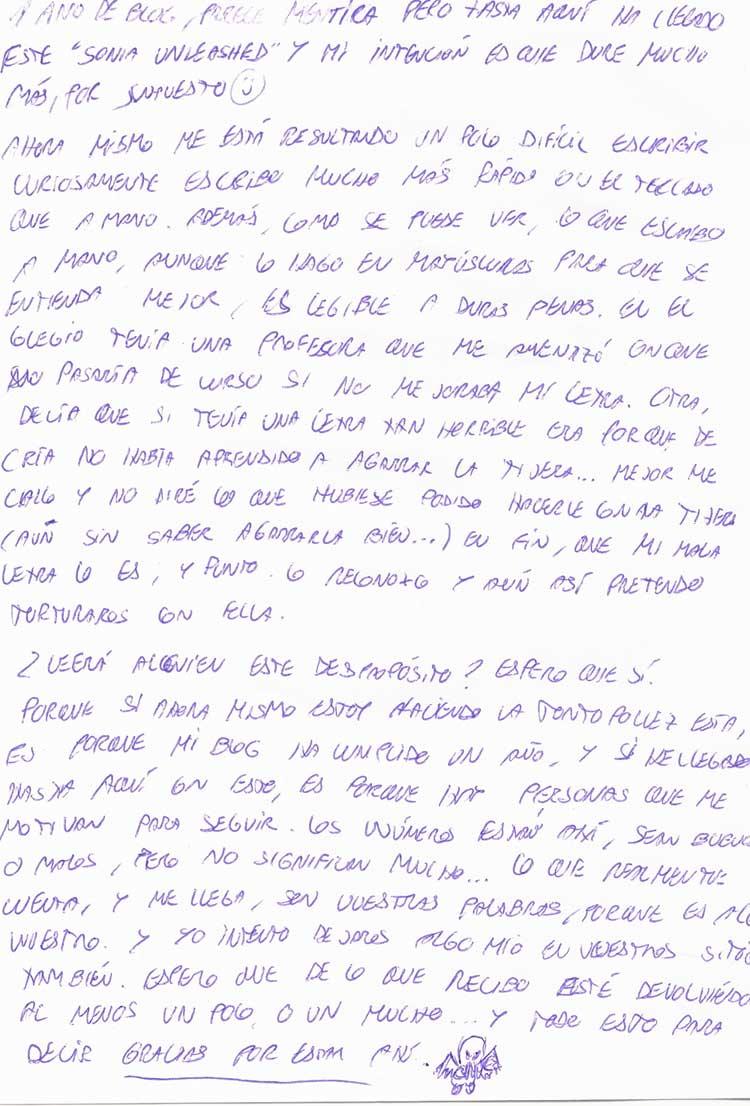 la entrada escrita a mano  Letras Bonitas A Mano