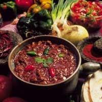 chilisuppe med hakket oksekød