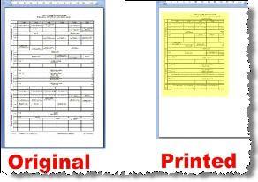 Word page printing