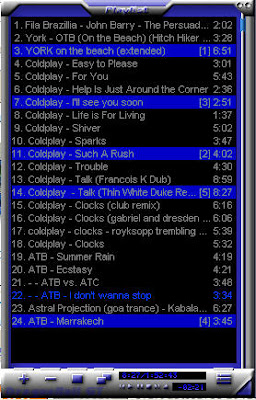 playlist after: see numbers near songs lenght to determine plauling sequence