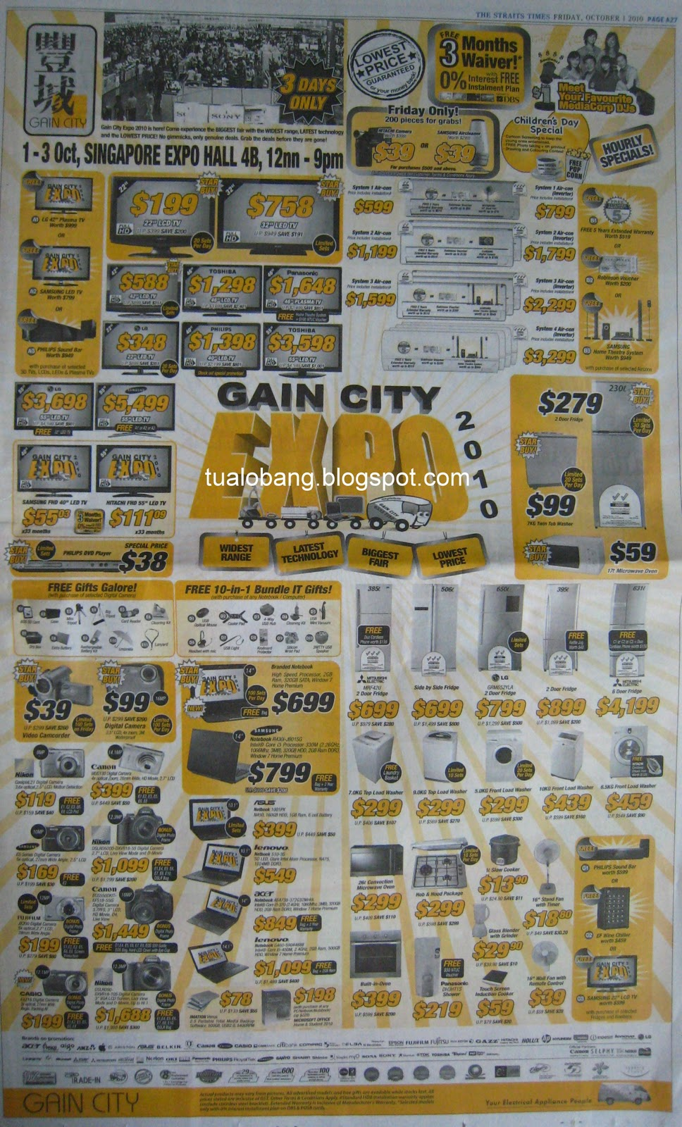 Tua Lobang - Singapore: GAIN CITY EXPO@Sin Expo Hall 4B, 1 to 3 Oct ...