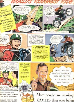 Camel Ads - Motorcycle Climbing Champ CLEM MURDAUGH