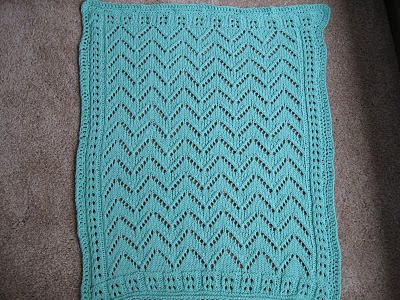 Knitting Like Crazy: Car Seat Blanket for Baby Rambo