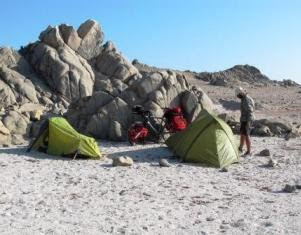 Out Tents on the Beach
