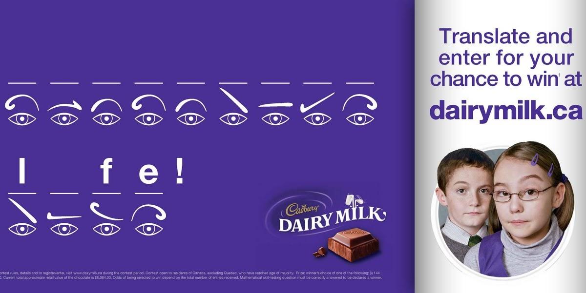 Cadbury Eyebrows Campaign With A Canadian Twist October 15 2009