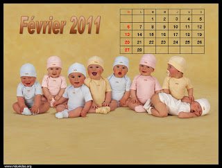 New Year 2011 Calendar, Cute Babies Desktop Wallpapers
