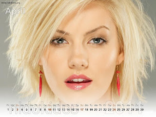 New Year 2011 Calendar, Elisha Cuthbert Desktop Wallpapers