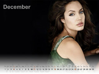 New Year 2011 Calendar, Angelina Jolie Desktop Wallpapers