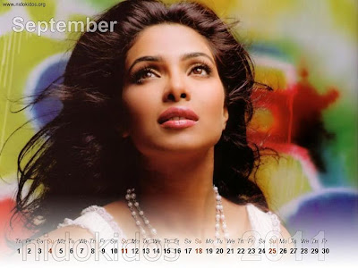 New Year 2011 Calendar, Priyanka Chopra Desktop Wallpapers