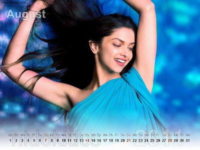 New Year 2011 Calendar, Deepika Padukone Desktop Wallpapers