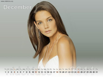 New Year 2011 Calendar, Katie Holmes Desktop Wallpapers