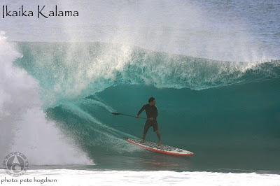 Ikaika Kalama - Paddle Surf Hawaii - Barreled