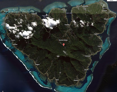 Satellite view of Moorea French Polynesia