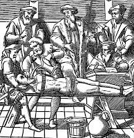 Waterboarding, circa 1556