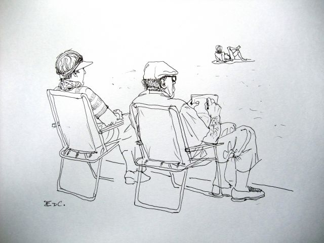 art of evrard de caqueray chaises de plage. Black Bedroom Furniture Sets. Home Design Ideas