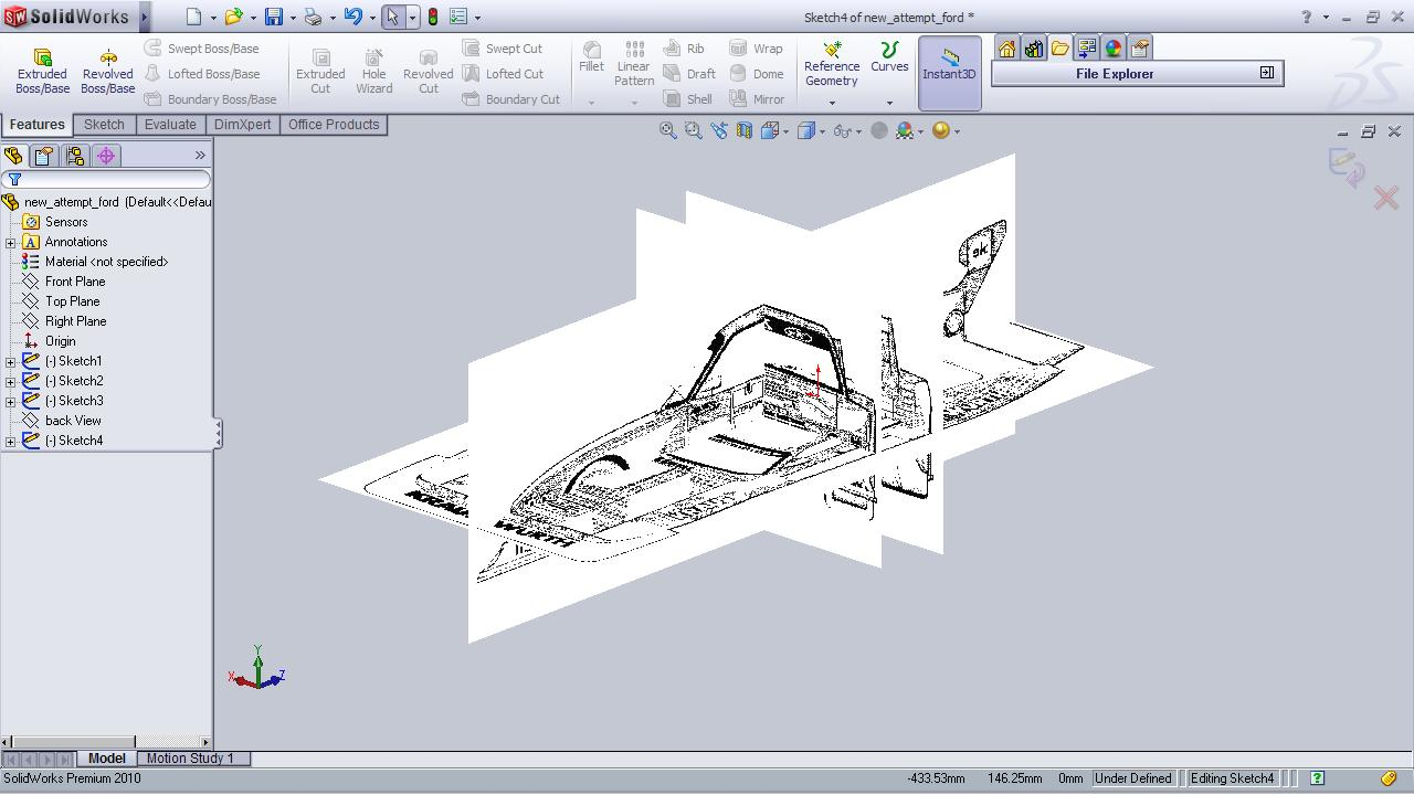 Car SolidWorks Blueprint