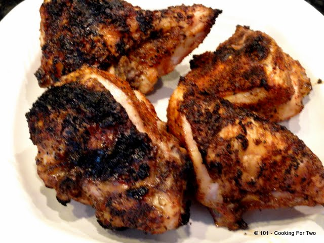Grilled Paprika-Garlic  Bone-in Skin-on (Split) Chicken Breast for Two from 101 Cookng For Two