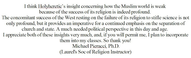 The Muslim world is weak because of the success of religion