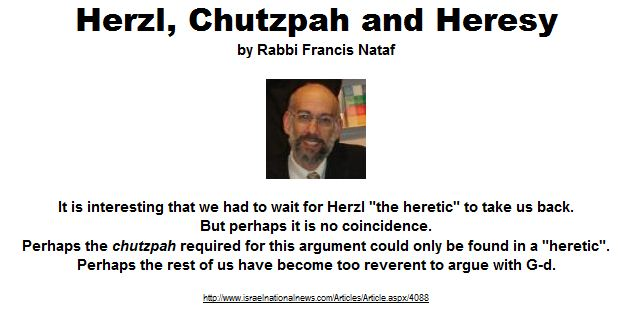 Herzl the heretic
