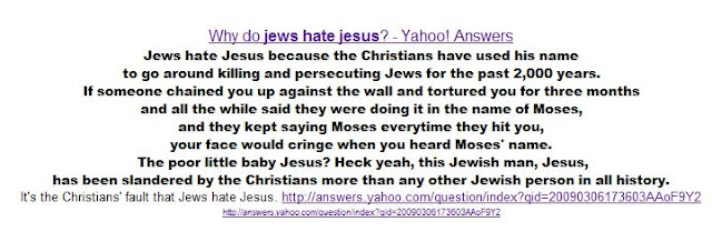 Why do Jews hate Jesus?
