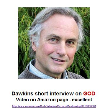 Dawkins short interview on GOD