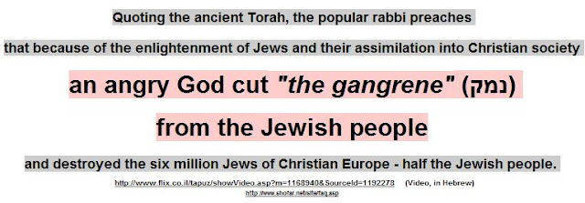 The Jewish God was angry because of enlightenment of Jews and their assimilation