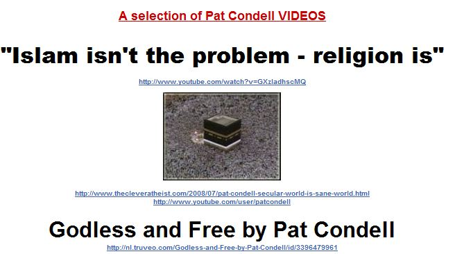 Islam isn't the problem - religion is - click image of Kaaba for the video
