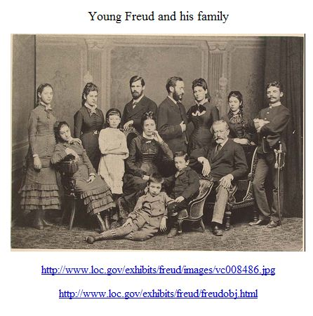 Young Freud and his family