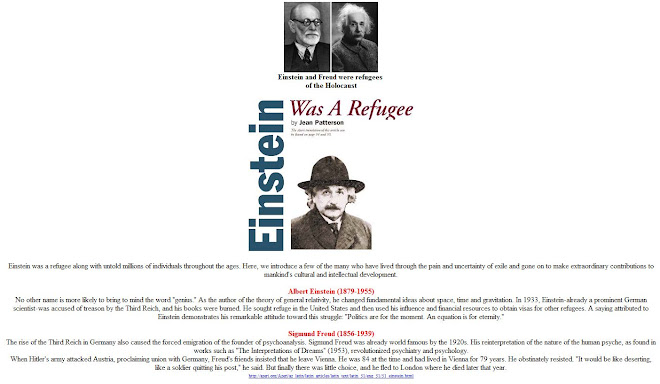 Freud and Einstein were refugees