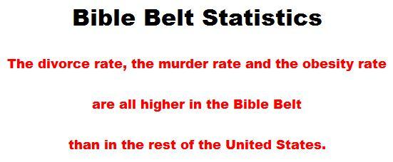 Bible Belt Statistics