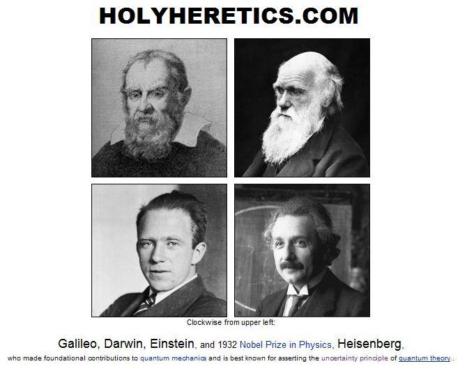 Galileo, Darwin, Einstein, Heisenberg