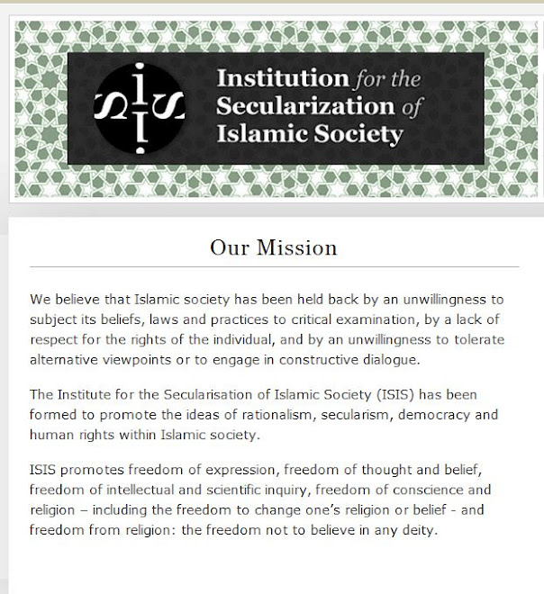 The MISSION of the Institution for the Secularization of Islamic Society