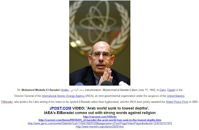 "El-Baradei: ""The Arab World Has Sunk to the Lowest Depths"" -   http://tiny.cc/w580e"
